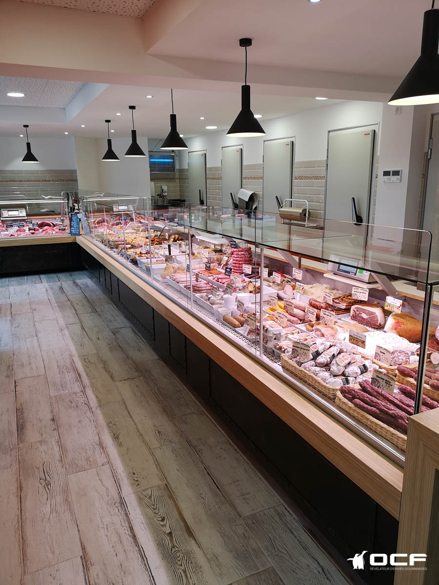 Boucherie Reault - Chailles (41) - Vitrine réfrigérée OCF