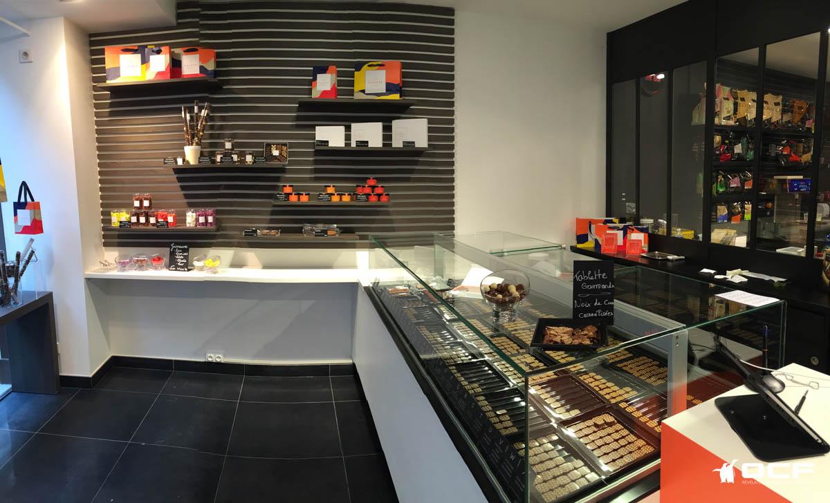 Chocolaterie Coupel - Rennes (35) - Vitrine réfrigérée OCF