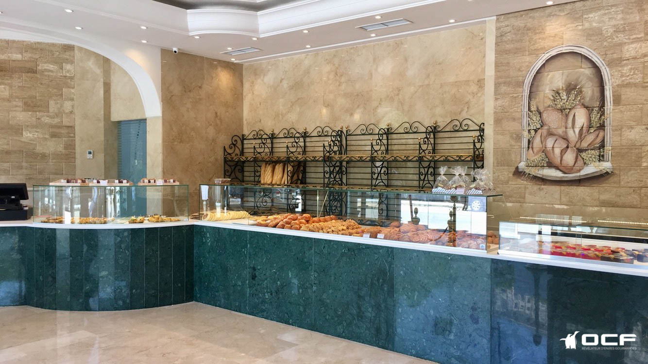 Pâtisserie à l'italienne - Tanger (Maroc) - Vitrine réfrigérée OCF