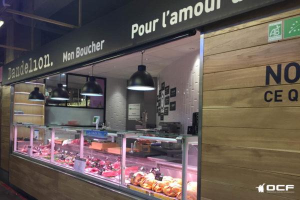 Boucherie Dandelion - 75017 Paris - Vitrine réfrigérée OCF